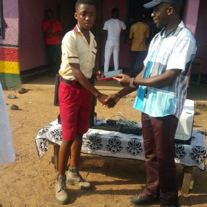 a presentation of ipad to a well-behaved student in citizen international school Yeji