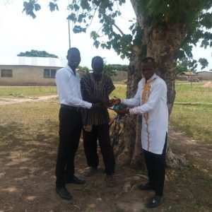 Receipt of payment of school fees for one of our client in Anglican University  Nkoranza ghana pursuing medical assistance course.